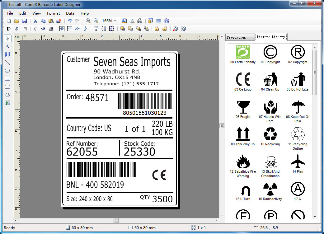 CodeX Barcode Label Designer 5.1.1123